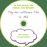 mobiles Fotostudio - Beispiel einer CD mit Werbeaufdruck