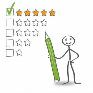 Bewertungen sind wichtig - sie helfen anderen
