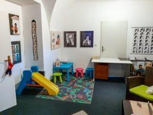 Spielecke-Kinderbereich im Fotostudio Keepsmile