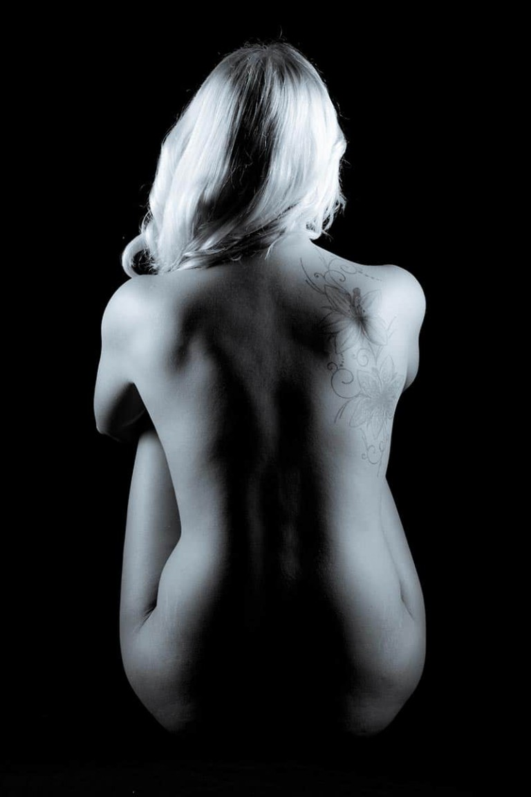 Fotoaktion Rückentattoo im Fotostudio Keepsmile, Castrop-Rauxel