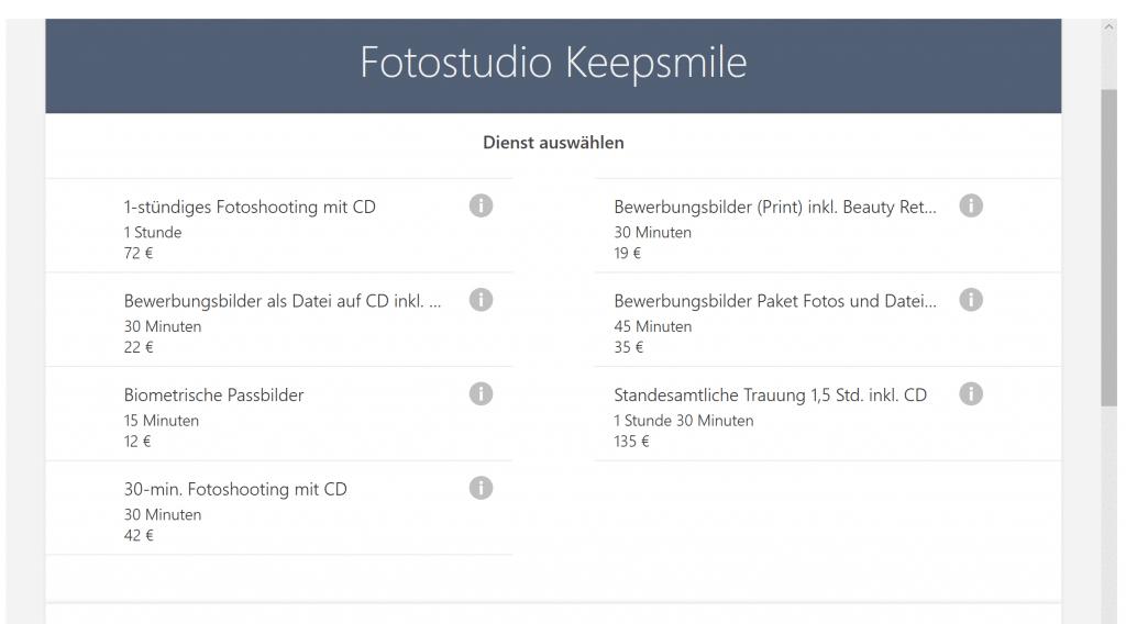 Online Terminbuchung für Termine im Fotostudio Keepsmile, Castrop-Rauxel