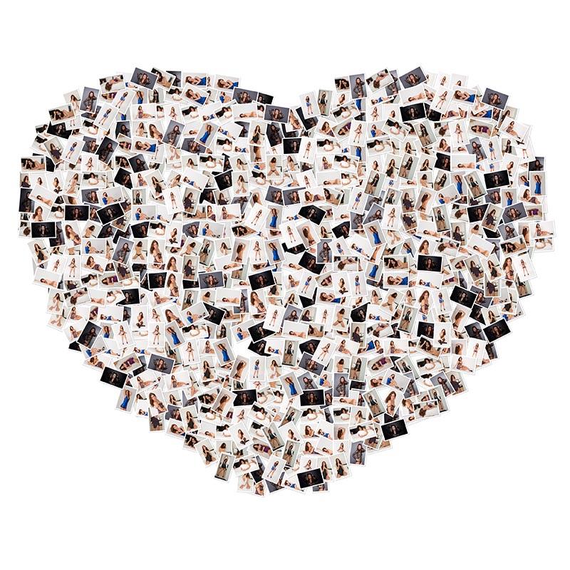 Herzförmiges Foto mit allen Dateien aus einem Fotoshooting im Fotostudio Keepsmile, Castrop-Rauxel zwischen Dortmund, Herne und Bochum