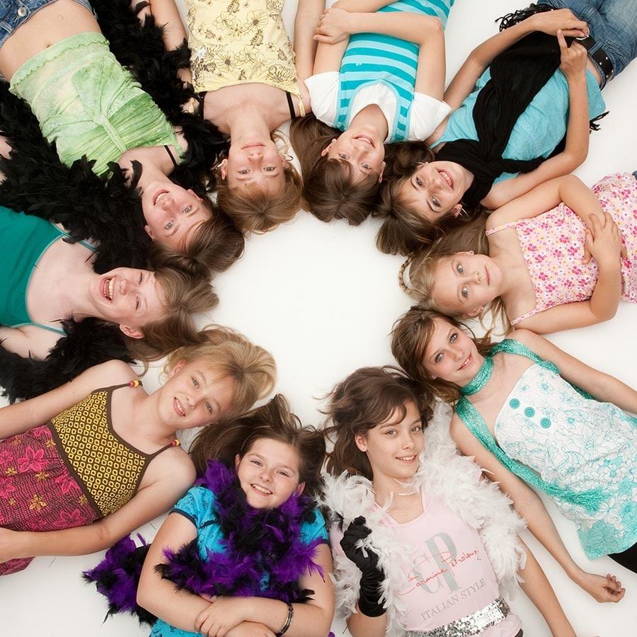 Gruppenfoto Teenager Geburtstags-Fotoshooting im Fotostudio Keepsmile, Castrop-Rauxel