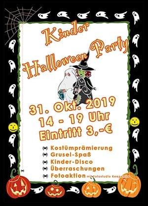Kinder-Halloween 2019 im Restaurant Mythos Fotostudio Keepsmile