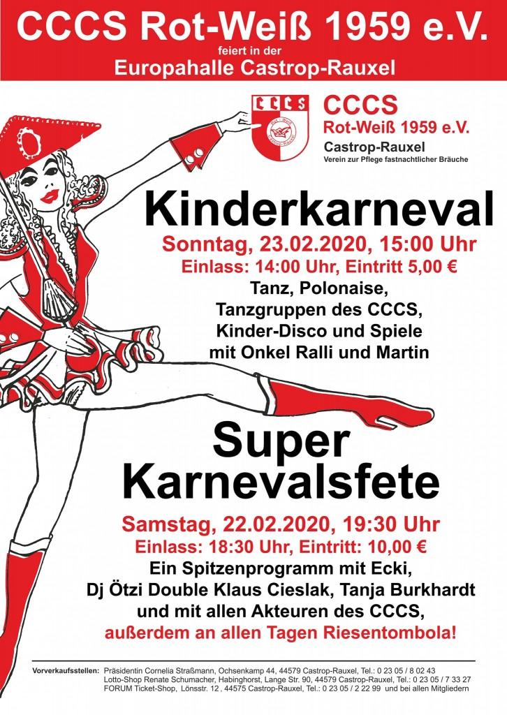 Plakat Karneval CCCS 2020
